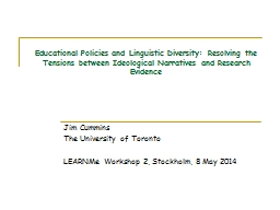 Educational Policies and Linguistic Diversity: Resolving th