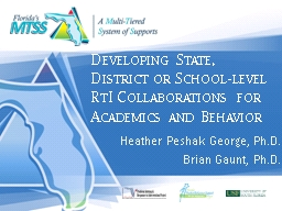 Developing State, District or School-level