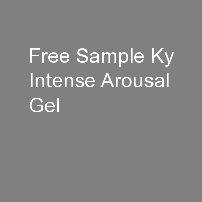 Free Sample Ky Intense Arousal Gel