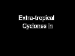 Extra-tropical Cyclones in