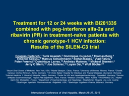 Treatment for 12 or 24 weeks with BI201335 combined with pe