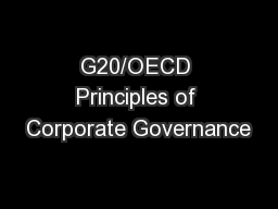 G20/OECD Principles of Corporate Governance PowerPoint PPT Presentation