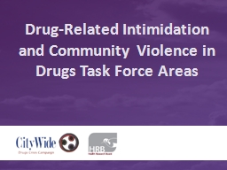 Drug-Related Intimidation and Community Violence in Drugs T