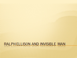 """The Invisible Man"" by Ralph Ellison Essay Sample"
