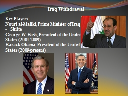Iraq Withdrawal PowerPoint PPT Presentation