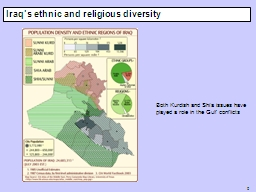 0 Iraq's ethnic and religious diversity PowerPoint PPT Presentation