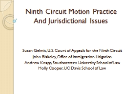 Ninth Circuit Motion Practice PowerPoint PPT Presentation