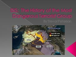 ISIS:  The History of the Most Dangerous Terrorist Group