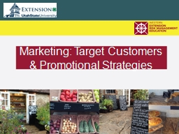 Marketing: Target Customers & Promotional Strategies