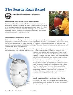 Seattle Rain Barrel User Guide revised  spigot drain v