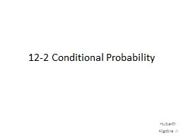 12-2 Conditional Probability