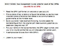 ESS 112/222. Your PowerPoint PPT Presentation