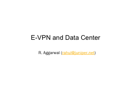 E-VPN and Data Center