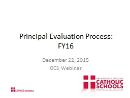 Principal Evaluation Process: FY16 PowerPoint PPT Presentation