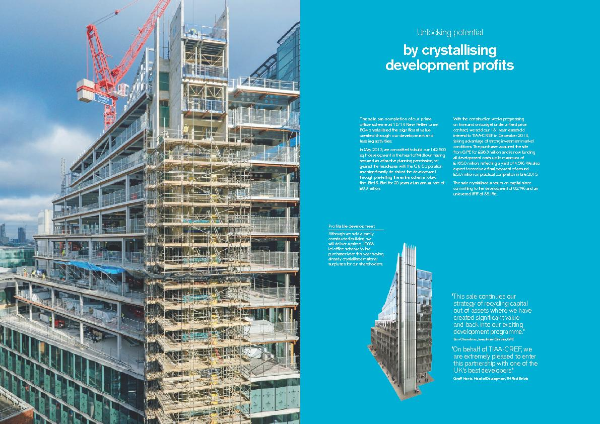 Unlocking potentialby crystallising development protsThe sale pre-com