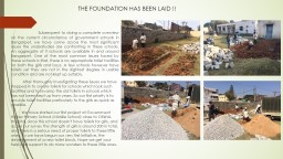 THE FOUNDATION HAS BEEN LAID !!