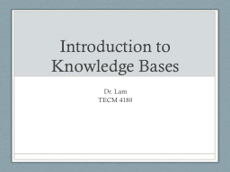 Introduction to Knowledge Bases