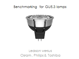 Benchmarking for GU5.3 lamps