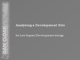 Analyzing a Development Site PowerPoint PPT Presentation