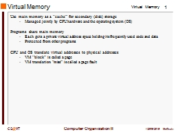 Virtual Memory PowerPoint PPT Presentation