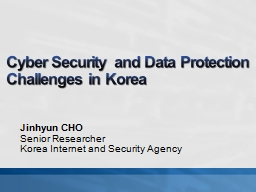Cyber Security and Data Protection PowerPoint PPT Presentation