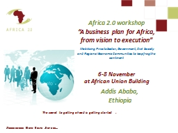 Africa 2.0 workshop