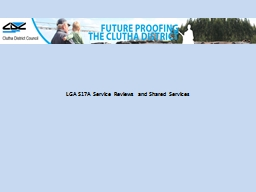 LGA S17A Service Reviews and Shared Services
