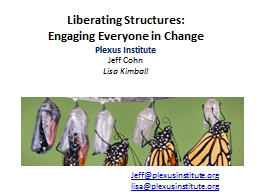 Liberating Structures: PowerPoint Presentation, PPT - DocSlides