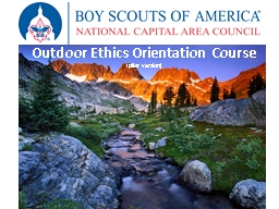 Outdoor Ethics Orientation Course