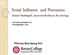 Social Influence and Persuasion