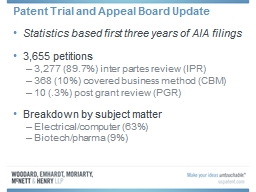 Patent Trial and Appeal Board Update PowerPoint PPT Presentation