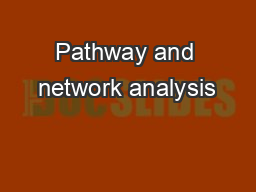 Pathway and network analysis