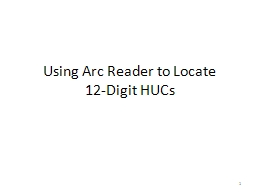 Using Arc Reader to Locate PowerPoint PPT Presentation
