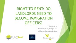 RIGHT TO RENT: DO LANDLORDS NEED TO BECOME IMMIGRATION OFFI