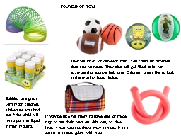 POUNDSHOP TOYS