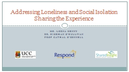 Addressing Loneliness and Social Isolation PowerPoint PPT Presentation