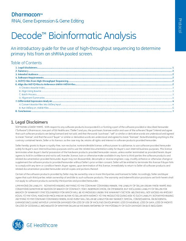 Bioinformatic Analysis An introductory guide for the use of high-throu