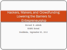 Howard E. Aldrich PowerPoint PPT Presentation