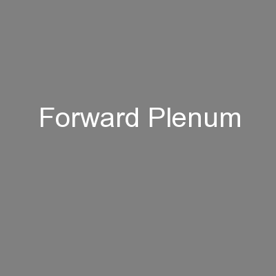 Forward Plenum