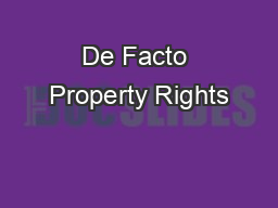 de facto relationship and property
