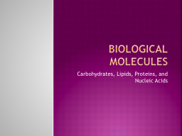 Biological molecules PowerPoint PPT Presentation