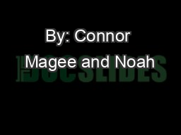 By: Connor Magee and Noah