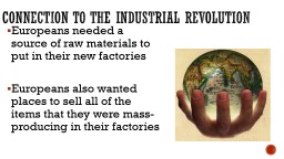 Connection to the Industrial Revolution PowerPoint PPT Presentation