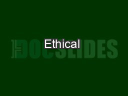 Ethical & Social Issues