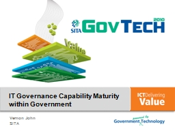 IT Governance Capability Maturity within Government