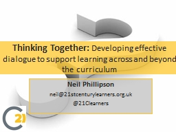Thinking Together: PowerPoint PPT Presentation