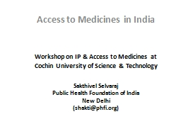 Workshop on IP & Access to Medicines at