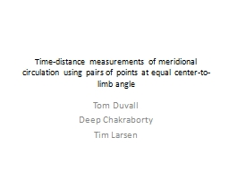 Time-distance measurements of