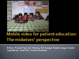 Mobile video for patient education: The midwives' perspec