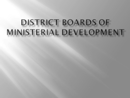 District Boards of Ministerial Development